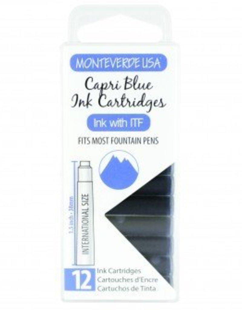 MONTEVERDE MONTEVERDE INK CARTRIDGES CAPRI BLUE