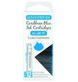 MONTEVERDE MONTEVERDE INK CARTRIDGES CARIBBEAN BLUE