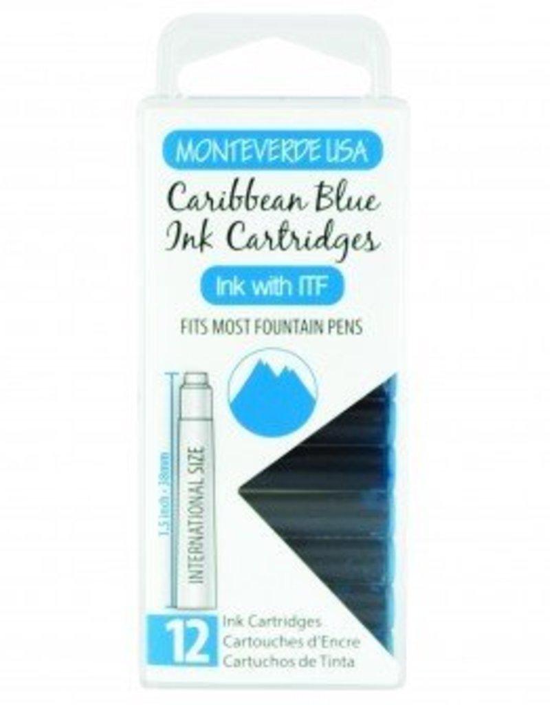 MONTEVERDE MONTEVERDE CARIBBEAN BLUE - INK CARTRIDGES