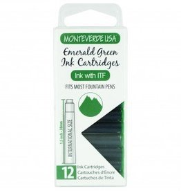 MONTEVERDE MONTEVERDE INK CARTRIDGES EMERALD GREEN