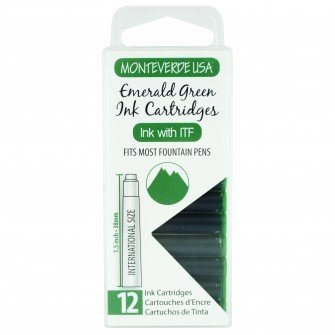 MONTEVERDE MONTEVERDE INK CARTRIDGES EMERALD GREEN