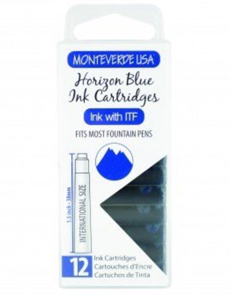 MONTEVERDE MONTEVERDE INK CARTRIDGES HORIZON BLUE