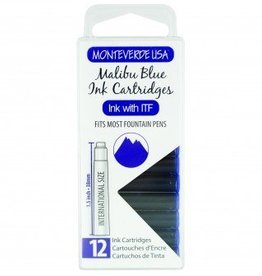 MONTEVERDE MONTEVERDE INK CARTRIDGES MALIBU BLUE