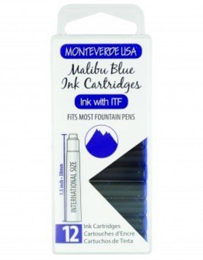MONTEVERDE MONTEVERDE INK CARTRIDGES MALIBU BLUE