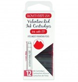 MONTEVERDE MONTEVERDE VALENTINE RED - INK CARTRIDGES