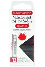 MONTEVERDE MONTEVERDE INK CARTRIDGES VALENTINE RED