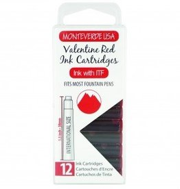 MONTEVERDE MONTEVERDE INK CARTRIDGES VALENTINE RED