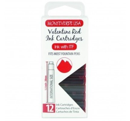 MONTEVERDE MONTEVERDE VALENTINE RED - INK CARTRIDGES