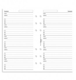 FILOFAX FILOFAX B130201 NAME, ADDRESS, PHONE WHITE PERSONAL