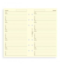 FILOFAX FILOFAX CONTACTSNAME/ADDRESSTELEPHONE POCKET CREAM