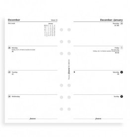 FILOFAX FILOFAX WEEK ON TWO PAGES MONDAY START PERSONAL