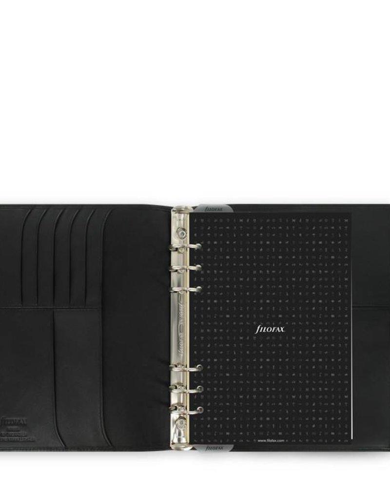 FILOFAX FILOFAX A5 NAPPA ORGANIZER BLACK