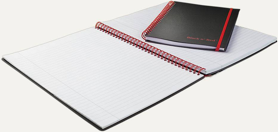 BLACK N' RED BLACK N' RED 8.25 X 5 7/8 POLY COVER JOURNAL NOTEBOOK