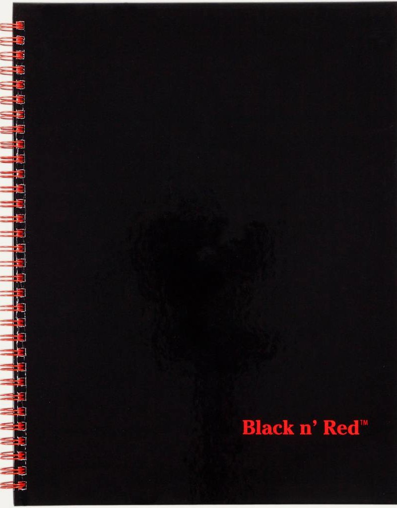 BLACK N' RED BLACK N' RED NOTEBOOK WIREBOUND,PERF 11 X 8 1/2