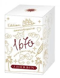 "J. HERBIN J. HERBIN ""1670"" BOTTLED INK ROUGE HEMATITE 50ML"