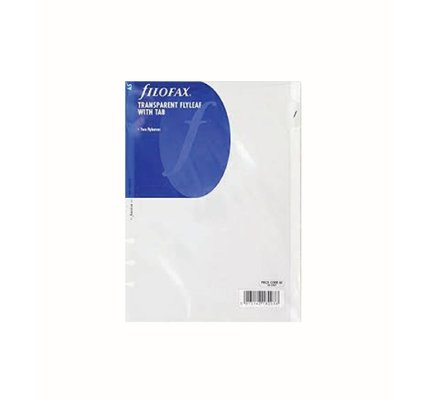 FILOFAX FILOFAX TRANSPARENT FLYLEAF WITH TAB A5