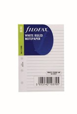 FILOFAX FILOFAX RULED NOTEPAPER WHITE MINI