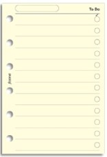 FILOFAX FILOFAX PERSONAL TO DO LIST CREAM