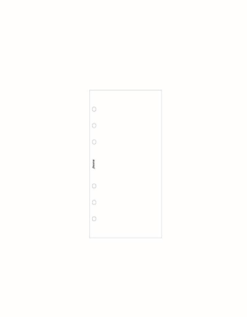 FILOFAX FILOFAX NOTEPAPER PERSONAL WHITE PLAIN