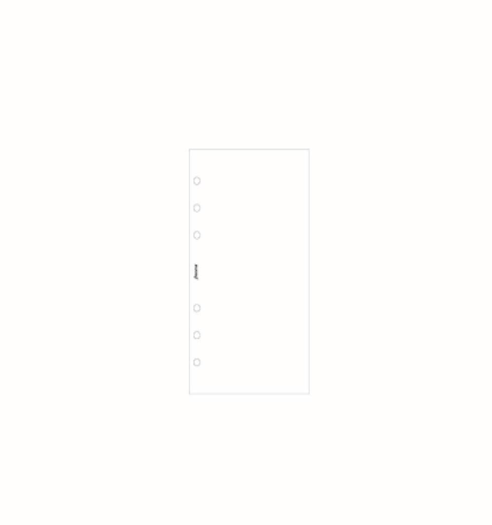 FILOFAX FILOFAX PERSONAL PLAIN WHITE PAPER