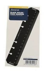 FILOFAX FILOFAX PERSONAL BLACK RULER/PAGE MARKER