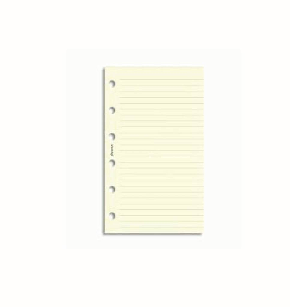 FILOFAX FILOFAX CREAM RULED NOTEPAPER POCKET
