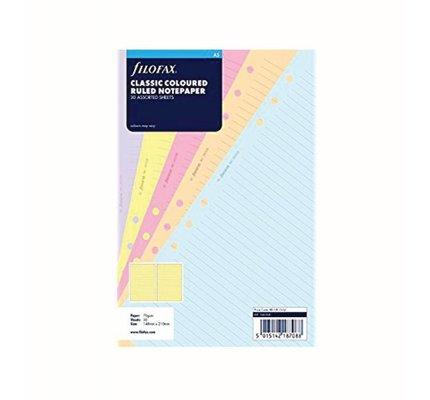 FILOFAX FILOFAX NOTEPAPER A5 CLASSIC COLOURED