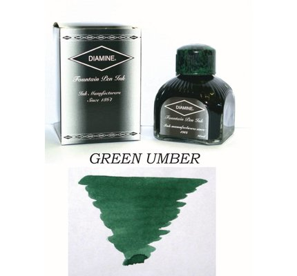 Diamine DIAMINE GREEN UMBER - 80ML BOTTLED INK