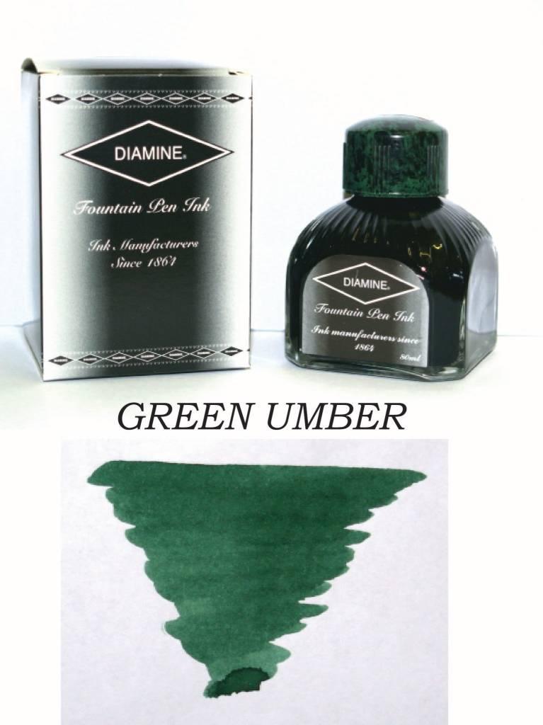 DIAMINE DIAMINE BOTTLED INK 80ML GREEN UMBER