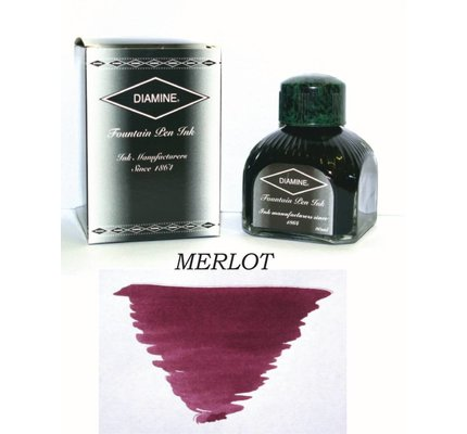 DIAMINE DIAMINE MERLOT - 80ML BOTTLED INK