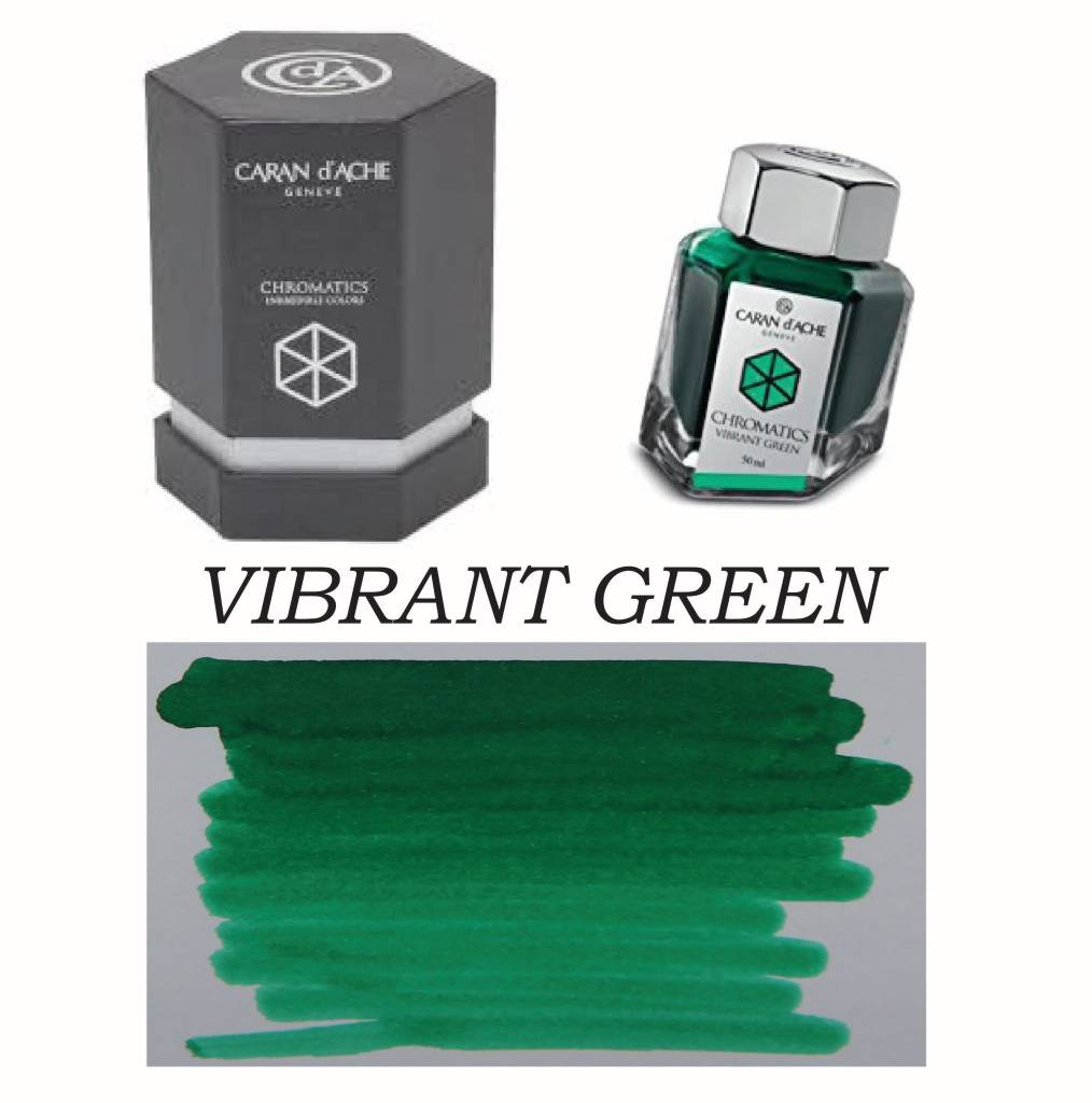 CARAN D'ACHE CARAN D' ACHE INK BOTTLE VIBRANT GREEN