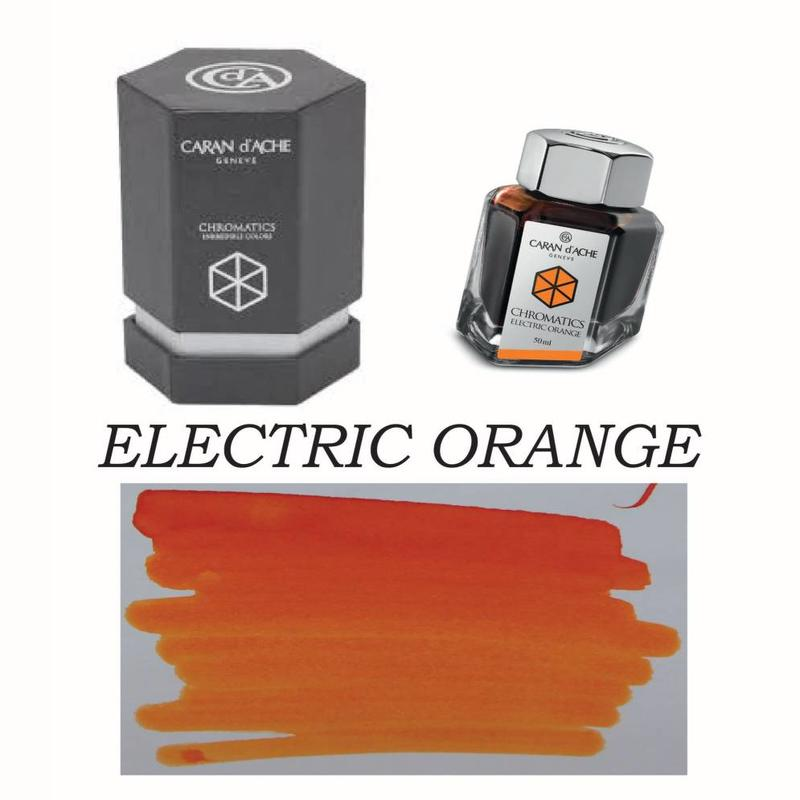 CARAN D'ACHE CARAN D' ACHE ELECTRIC ORANGE - 50ML BOTTLED INK