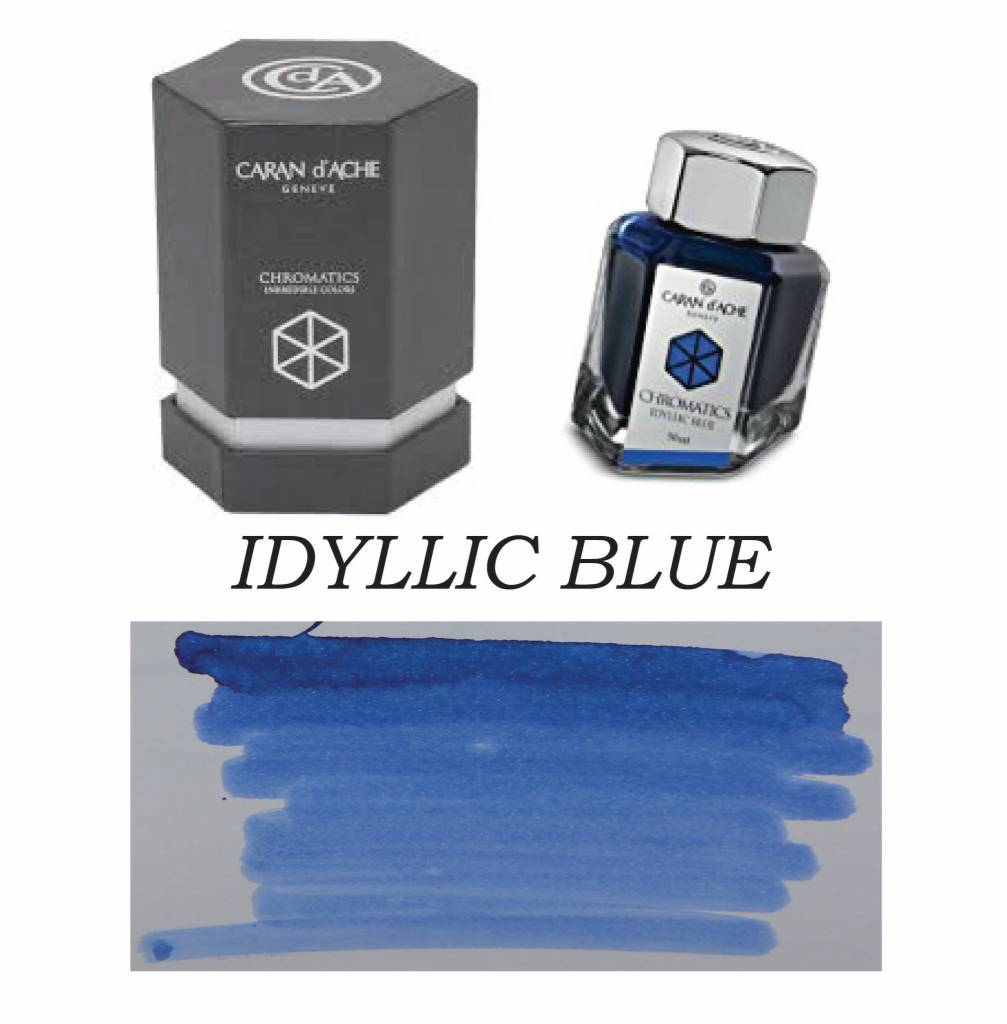 CARAN D'ACHE CARAN D' ACHE INK BOTTLE IDYLLIC BLUE