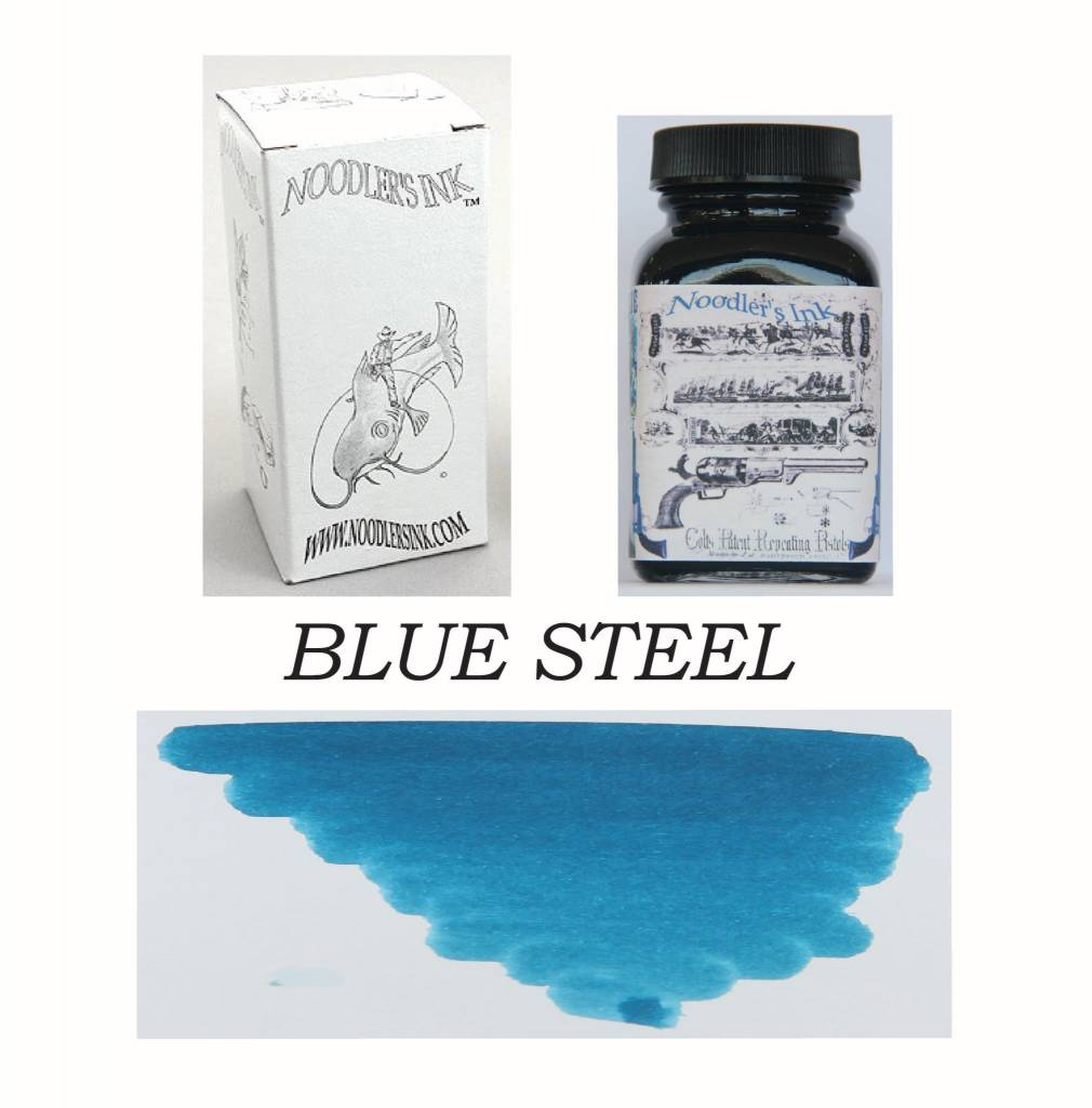 NOODLER'S DROMGOOLE'S EXCLUSIVE BOTTLED INK 3 OZ BLUE STEEL