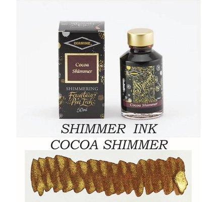 DIAMINE DIAMINE COCOA SHIMMER - 50ML SHIMMERING BOTTLED INK