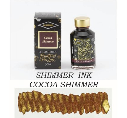 Diamine Diamine Shimmering Cocoa Shimmer (Gold) - 50ml Bottled Ink