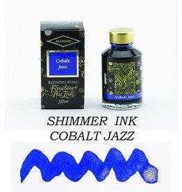 DIAMINE DIAMINE SHIMMERING BOTTLED INK 50ML - COBALT JAZZ (SILVER)