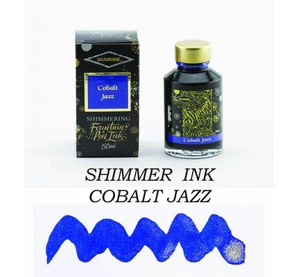 Diamine Diamine Shimmering Cobalt Jazz (Silver) 50ml Bottled Ink