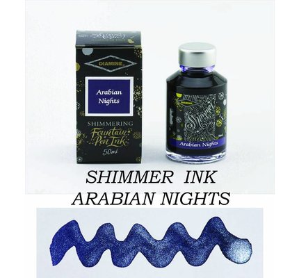 DIAMINE DIAMINE SHIMMERING BOTTLED INK 50ML - ARABIAN NIGHTS (SILVER)