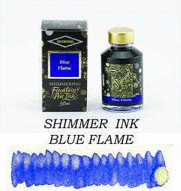 DIAMINE DIAMINE BLUE FLAME - 50ML SHIMMERING BOTTLED INK