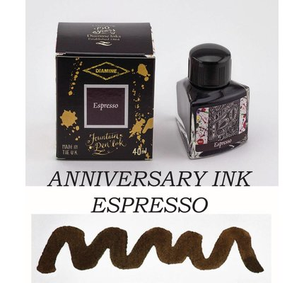 DIAMINE DIAMINE ANNIVERSARY BOTTLED INK 40ML - ESPRESSO