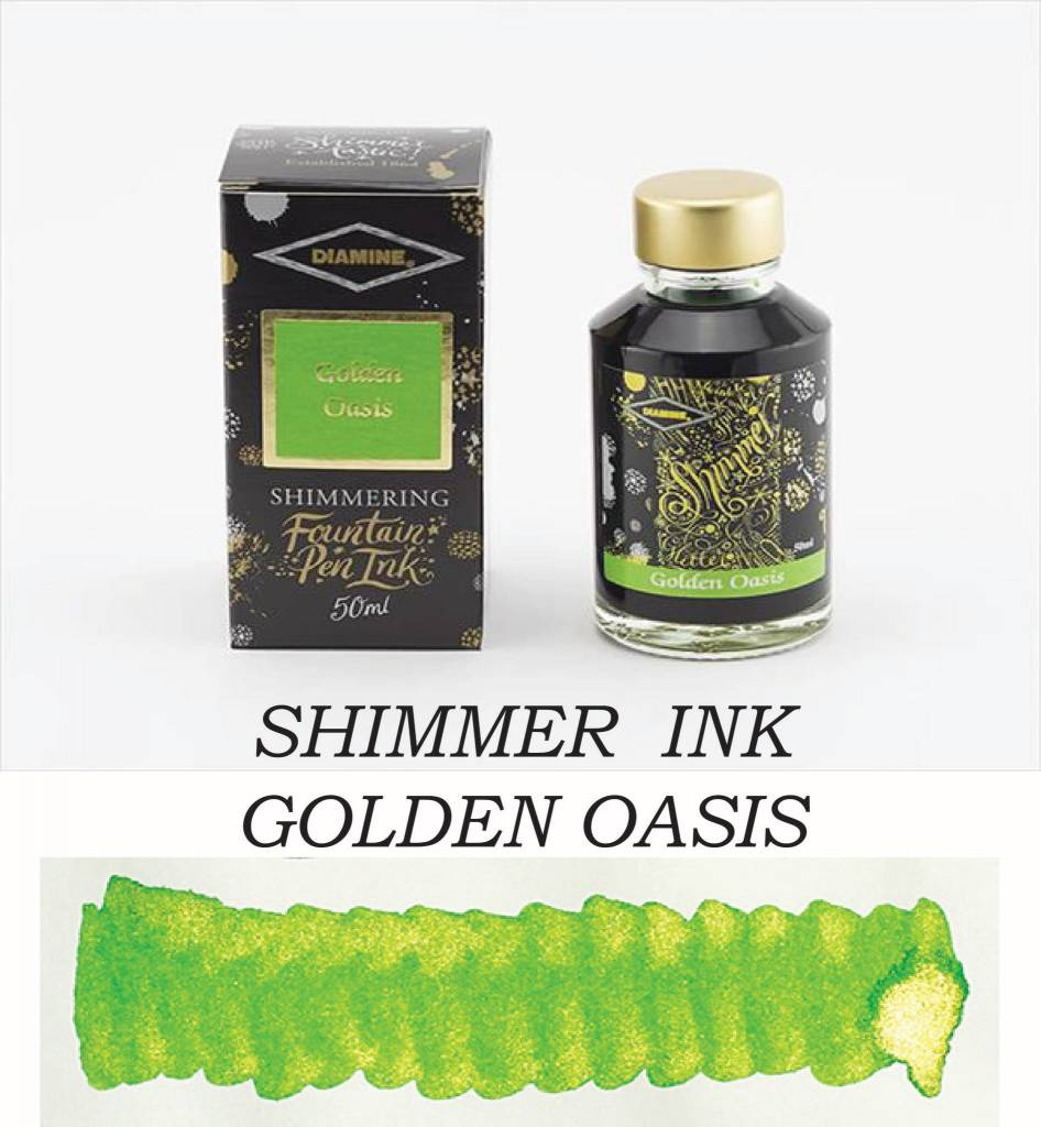 DIAMINE DIAMINE BOTTLED SHIMMERING INK 50 ML GOLDEN OASIS