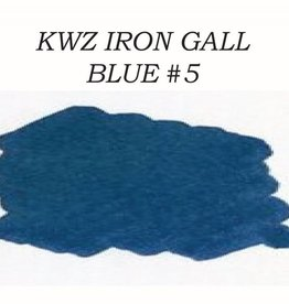KWZ INK KWZ IRON GALL BOTTLED INK 60 ML BLUE #5
