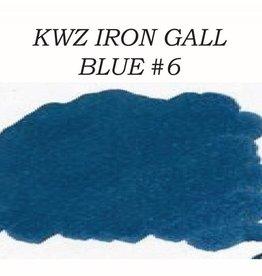 KWZ INK KWZ BLUE #6 - 60ML IRON GALL BOTTLED INK