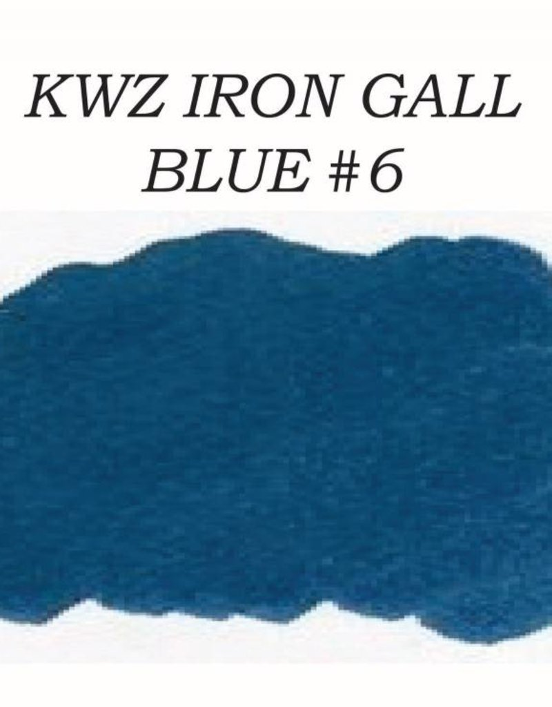 KWZ INK KWZ IRON GALL BOTTLED INK 60 ML BLUE #6