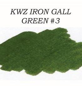 KWZ INK KWZ GREEN #3 - 60ML IRON GALL BOTTLED INK