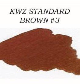 KWZ INK KWZ STANDARD BOTTLED INK 60ML BROWN #3