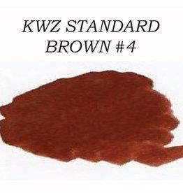 KWZ INK KWZ STANDARD BOTTLED INK 60ML BROWN#4
