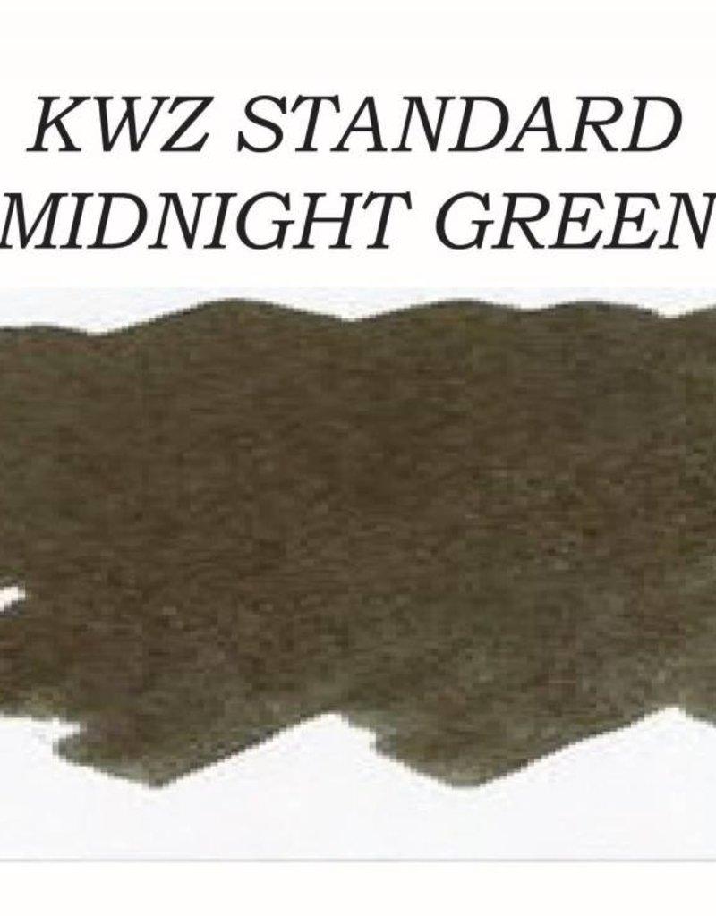KWZ INK KWZ STANDARD BOTTLED INK 60 ML MIDNIGHT GREEN