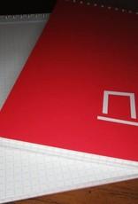 NOCK NOCK DOTDASH A5 SPIRAL NOTEPAD RED/BLUE